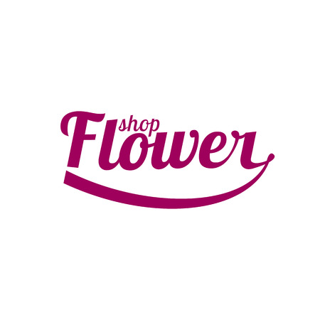 florist: Flower shop vector. Florist sign template, design element Illustration