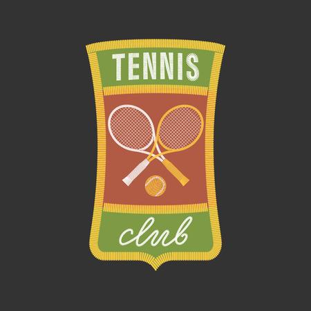 cross match: Vintage tennis sports vector. Design element, concept illustration