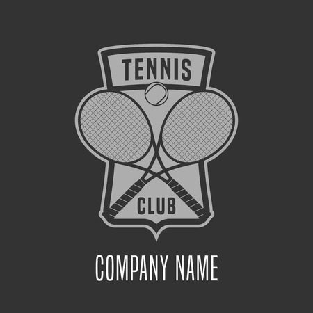 Tennis vector. Design element, concept illustration
