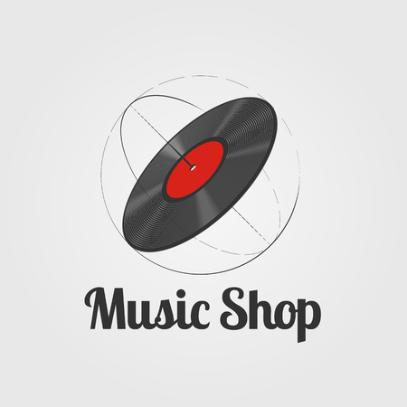 Music store vector . Template for music shop Illustration
