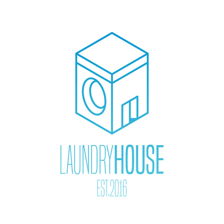 bleached: Laundry vector icon. Washing machine, washer