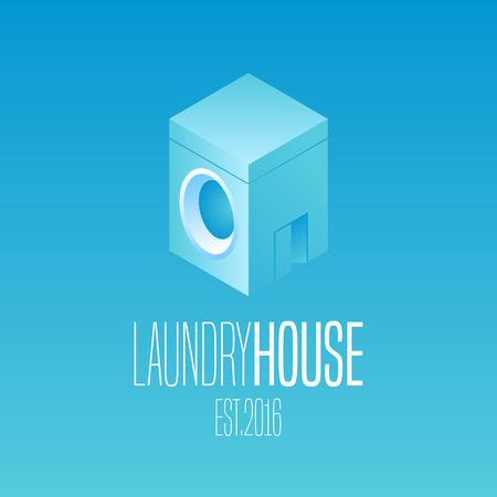 washer: Laundry vector icon Washing machine, washer Illustration