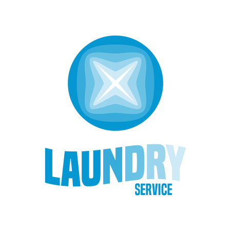 Laundry vector emblem, label, design element
