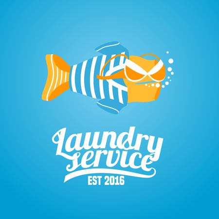 polyester: Laundry vector, label, design element, sign