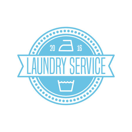 Laundry service vector template sign, design element
