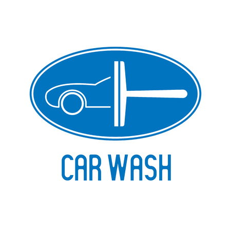 Car wash icon, design element. Car washing