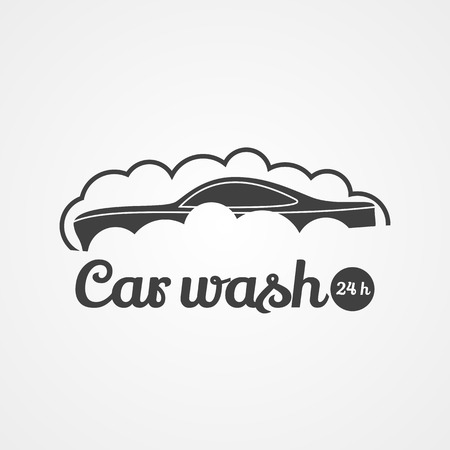 car wash: Car wash icon. DEsign element. Car in bubbles