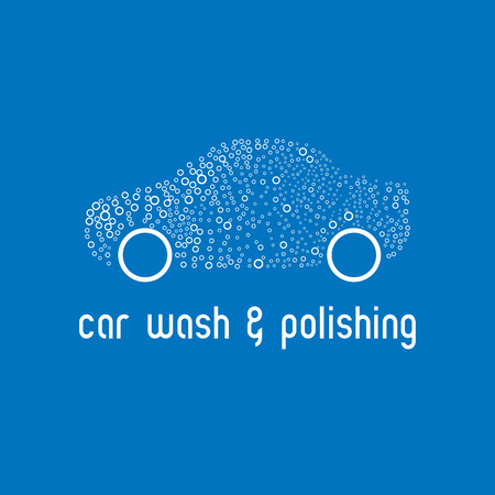 Car wash design element. Car washign concept