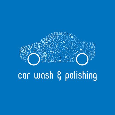 Car wash design element. Car washign concept