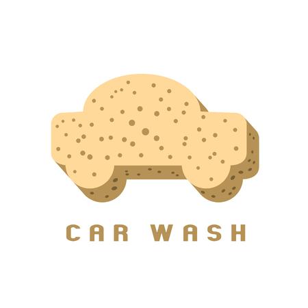 Car washing icon, design element. Car wash concept Иллюстрация