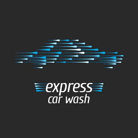 Car wash icon, design element. Car washing concept