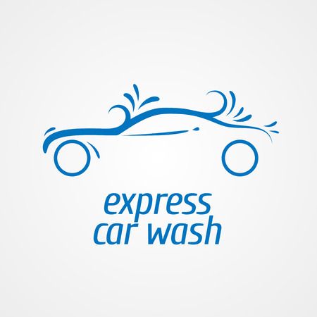 Car wash  design element, icon. Car washing concept