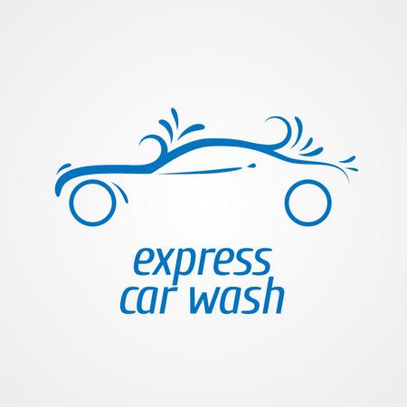 Car wash  design element, icon. Car washing concept