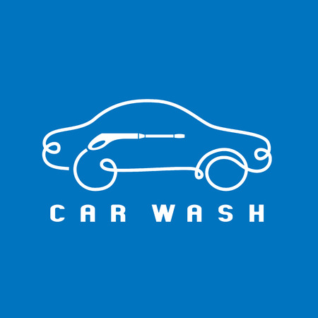 Car washing icon, design element. Car wash concept Illustration