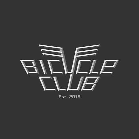 bicycling: Bicycle vector logo, design element. Bicycling concept