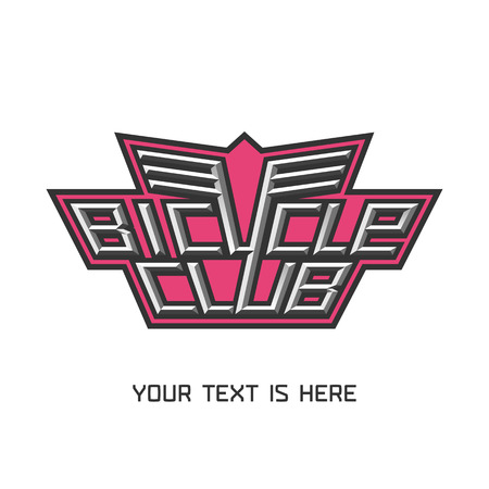 bicycling: Bicycling vector design element, logo. Bicycling concept Illustration