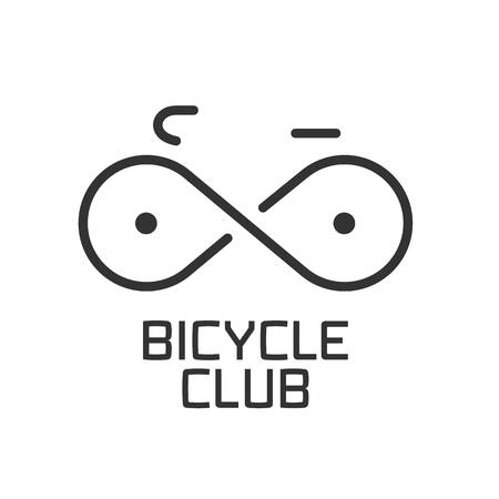 bicycling: Bicycle club vector logo, design element. Bicycling concept Illustration