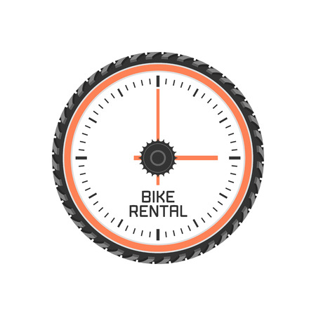 bicycling: Bicycle shop, rental vector logo. Bicycling concept Illustration