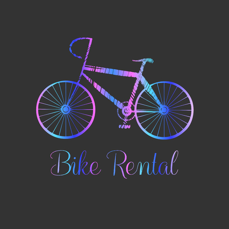 bicycling: Bicycle vector label and logo, design element. Bicycling concept