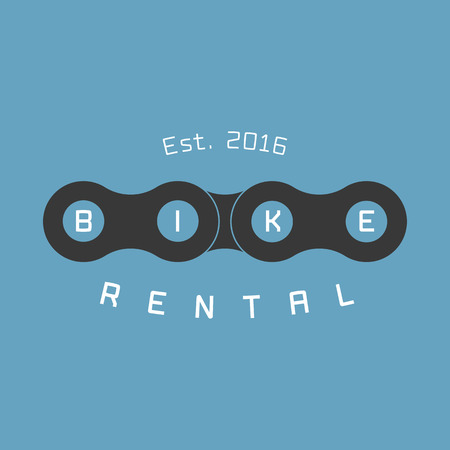 Bicycle rental vector logo, design element. Bicycling concept 向量圖像