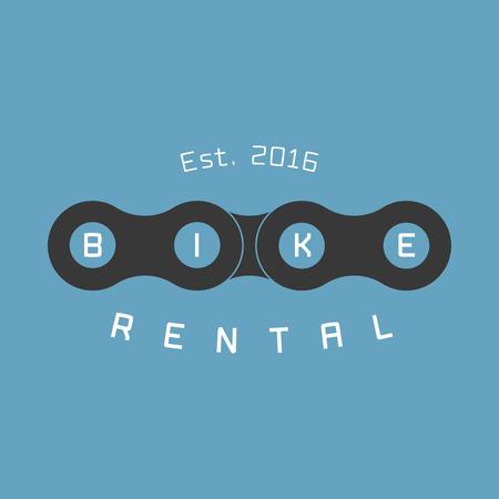 Bicycle rental vector logo, design element. Bicycling concept Stock Illustratie