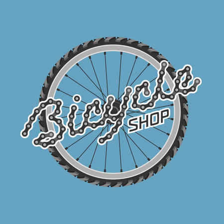 bicycling: Bicycle shop template vector logo, design element. Bicycling concept Illustration