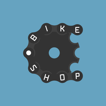 bicycling: Bicycle shop vector logo, design element. Bicycling concept