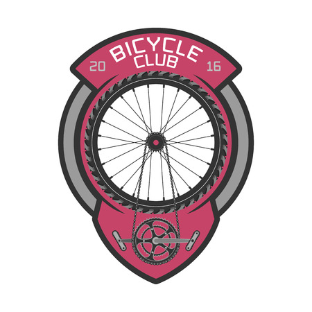 bicycling: Bicycle club vector template logo, design element. Bicycling concept Illustration