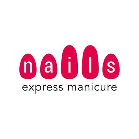 Nails vector logo. Sign, design element, illustration for manicure salon  イラスト・ベクター素材