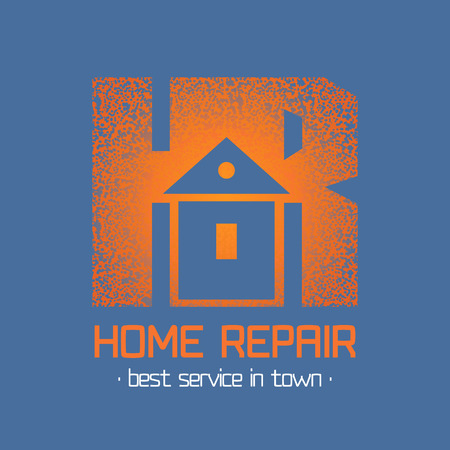 remodel: House repair and remodel vector. Home rebuilding concept Illustration