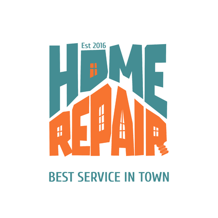 house painter: Home repair and remodel vector, icon, badge. House rebuilding concept