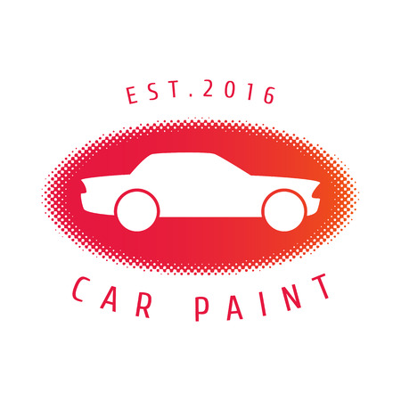 Car paint vector template, badge, icon. Airbrushign concept Illustration