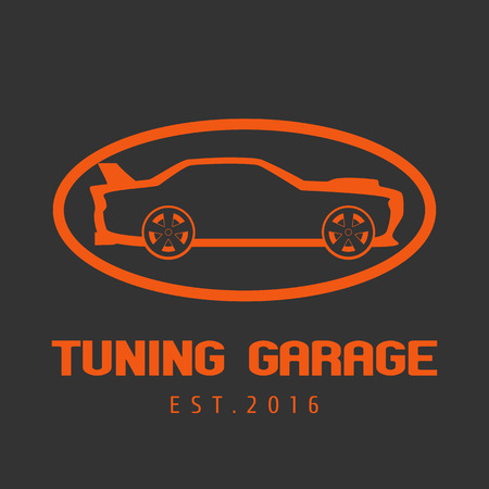 auto service: Tuning garage, car service vector. Car care concept Illustration