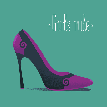high heels: Shoe icon fashion related vector illustration, design element. High heels footwear
