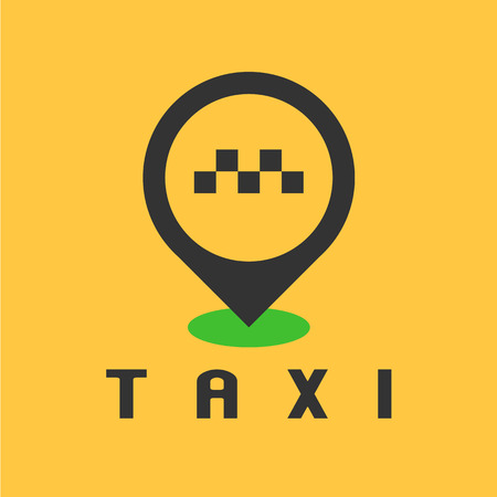 Taxi Cab Vector Logo Design Car Hire Black And Yellow