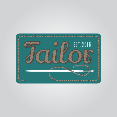 tailoring: Tailor shop vector, sign, emblem. Vintage, retro design element for tailoring and sewing service