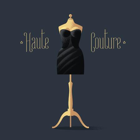sexy black dress: Elegant vector black dress for dinner, cocktail. Fashion concept design illustration, element for shop, store, sale poster