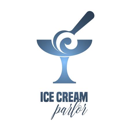 ice cream soft: Ice cream vector logo, sign, symbol, illustration, icon. Graphic template design element with soft ice cream scoop for parlor menu
