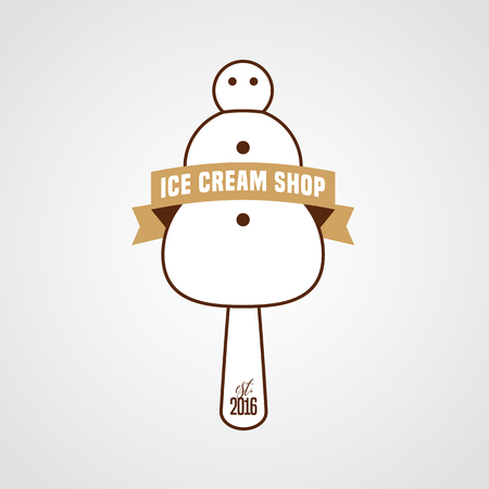 Original Ice Cream Vector Logo Sign Symbol Icon Emblem Template