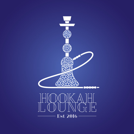 lounge bar: Hookah vector, icon, symbol, emblem, sign. Isolated decorative graphic design element for hookah lounge, bar. Turkish, Arabic style illustration