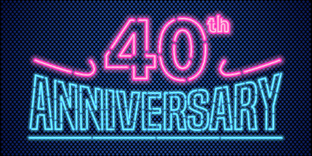 40 years: 40 years anniversary illustration banner Illustration