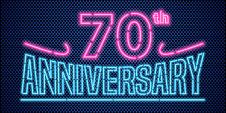 70 years anniversary illustration banner