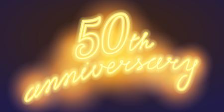 50 years anniversary illustration banner