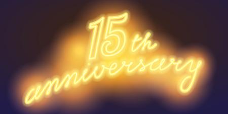 15 years anniversary illustration banner