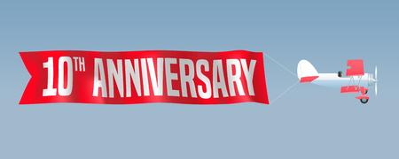 10 years anniversary illustration  イラスト・ベクター素材