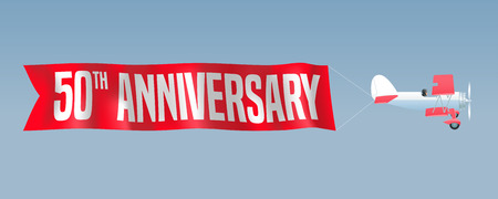 50 years anniversary: 50 years anniversary illustration