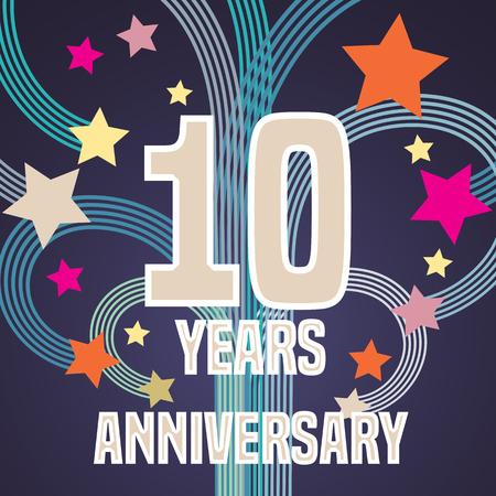 10 years: 10 years anniversary illustration Illustration
