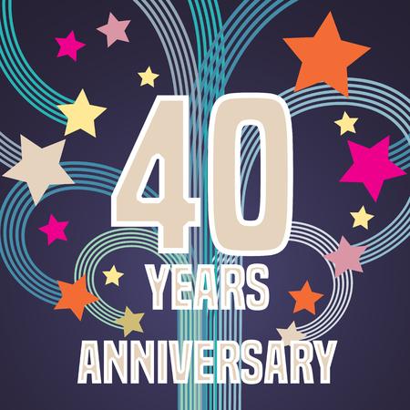 40 years: 40 years anniversary illustration