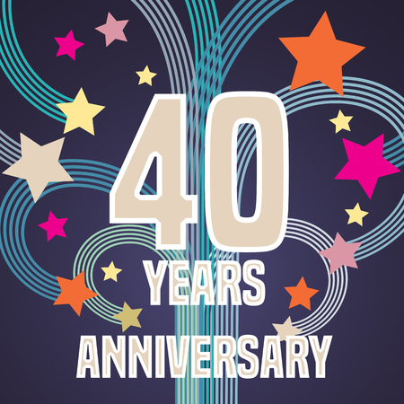 40 years anniversary illustration