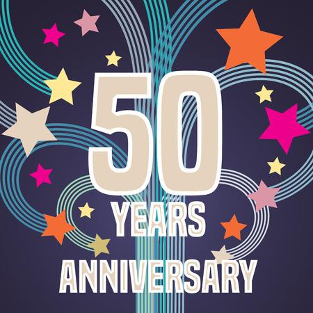 50 years anniversary: 50 years anniversary illustration banner
